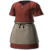 FFXIV - Woolen Smock of Piety (Red)