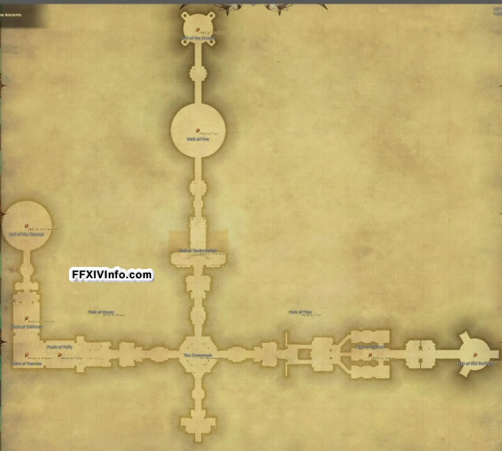 Map of Crystal Tower: Labyrinth of the Ancients in FFXIV: A Realm Reborn
