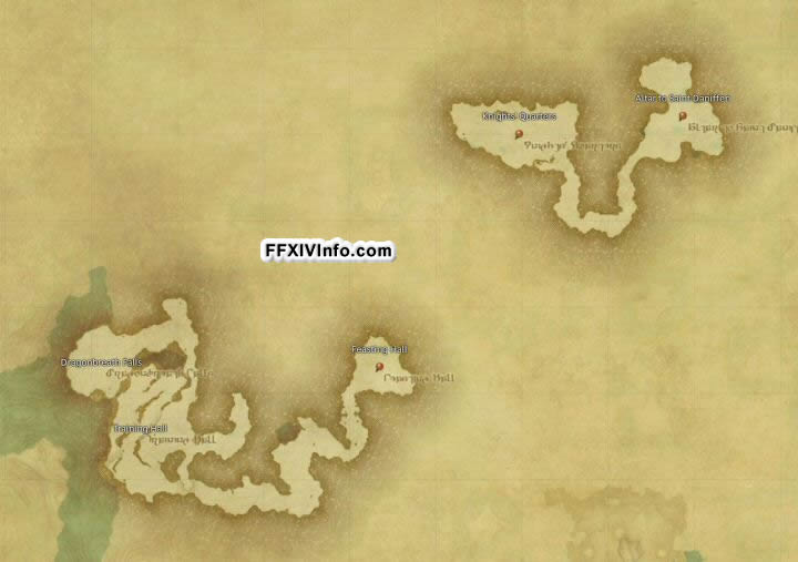 Map of Dzemael Darkhold Inner Hold in FFXIV: A Realm Reborn