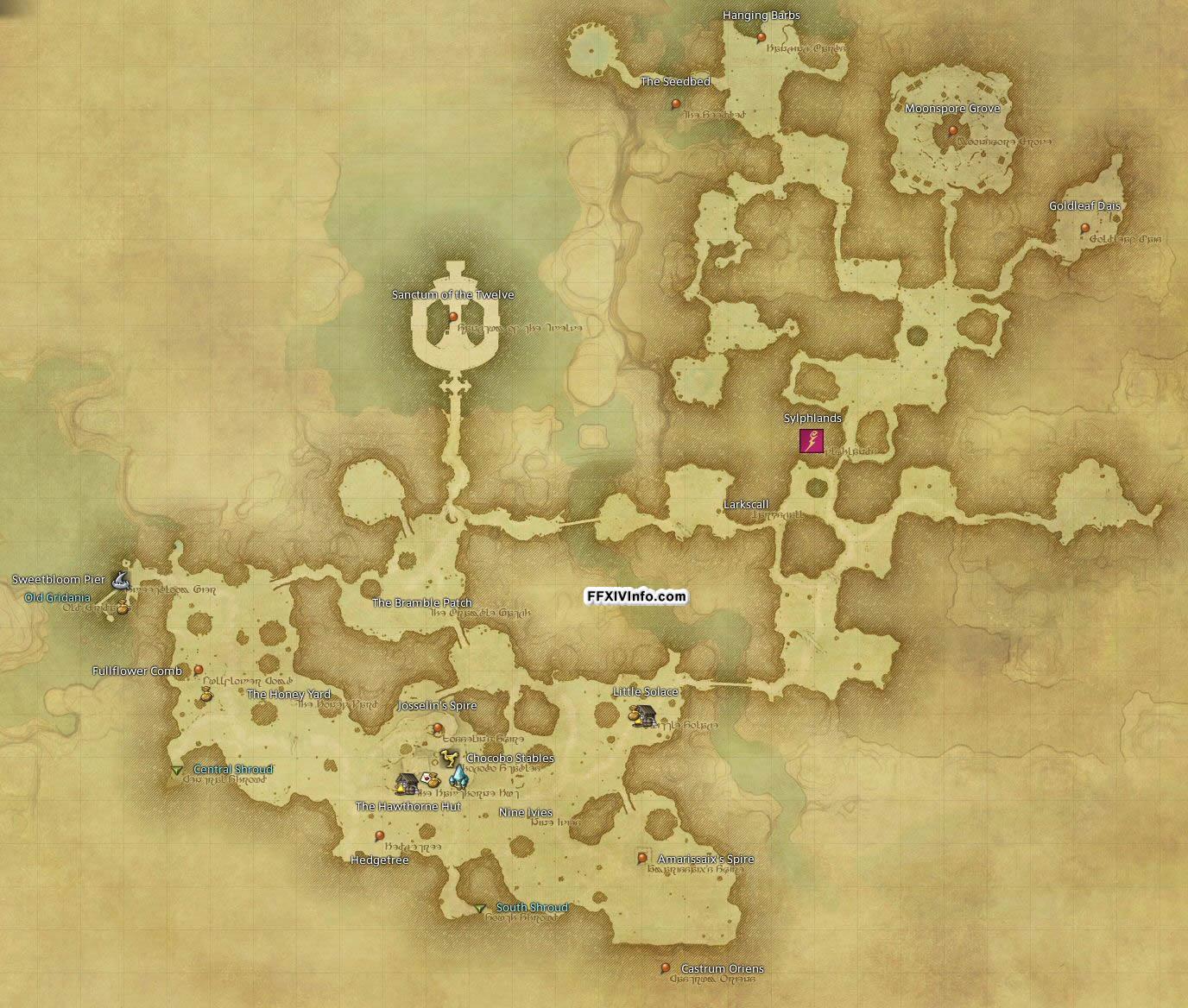 East shroud the black shroud maps ffxiv a realm for Ffxiv fishing locations