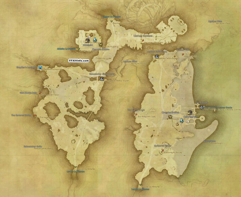 Eastern La Noscea - Maps | FFXIV: A Realm Reborn Info (FF14)