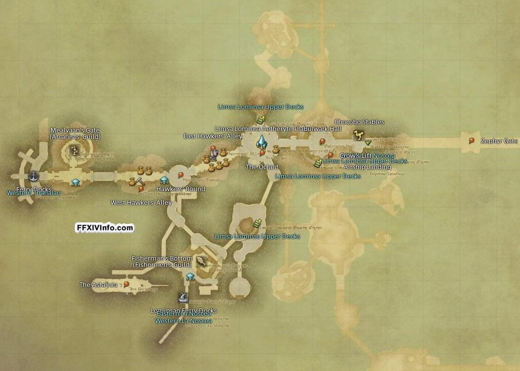 Limsa lominsa maps ffxiv a realm reborn info ff14 for Ffxiv fishing locations