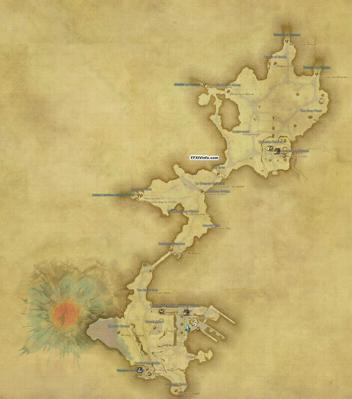 Lower La Noscea - Maps | FFXIV: A Realm Reborn Info (FF14)