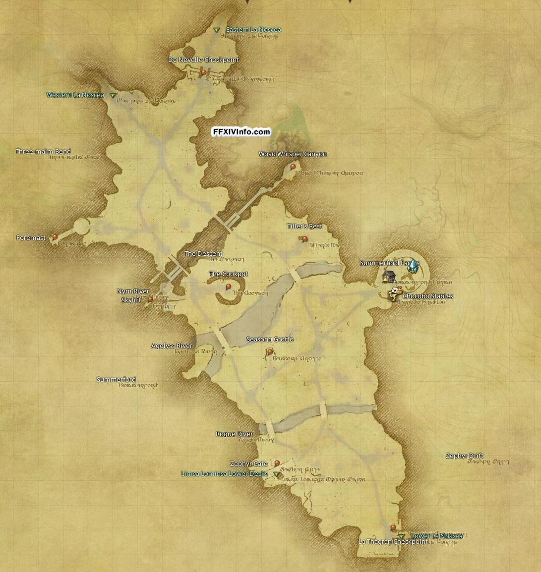Middle La Noscea Maps