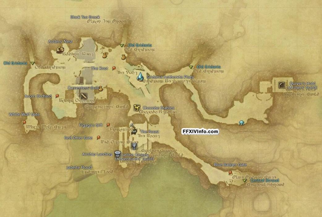 Gridania - Maps | FFXIV: A Realm Reborn Info (FF14)