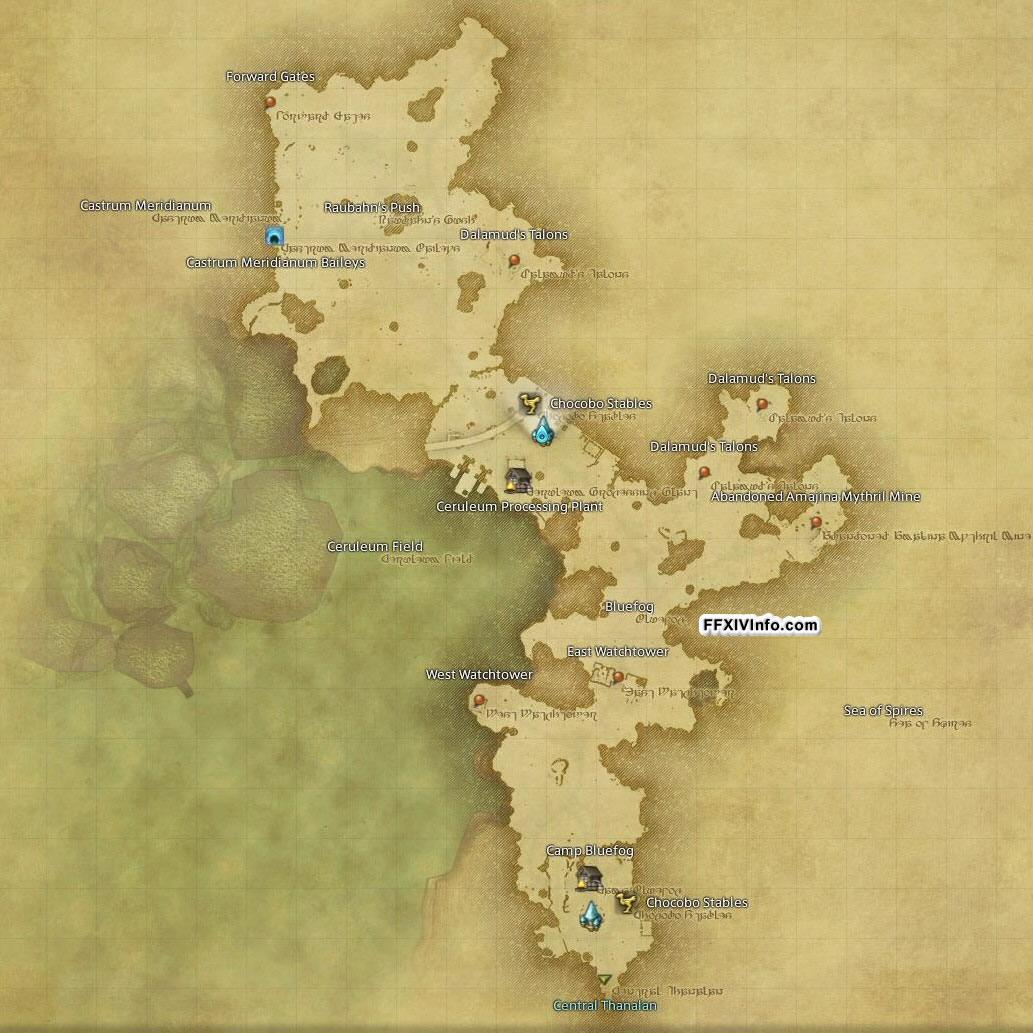Northern Thanalan - Maps | FFXIV: A Realm Reborn Info (FF14)