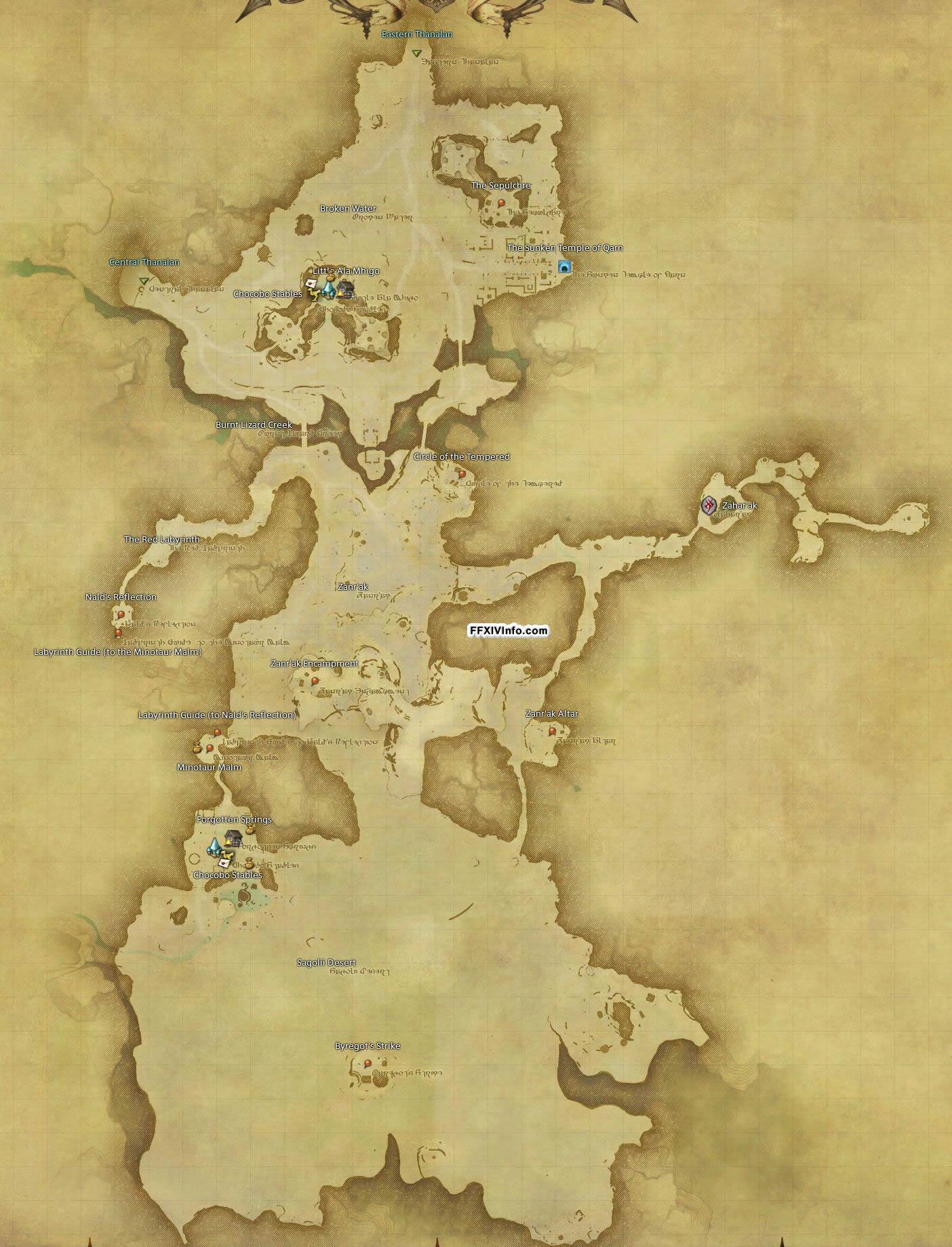 Southern Thanalan Maps Ffxiv A Realm Reborn Info Ff14