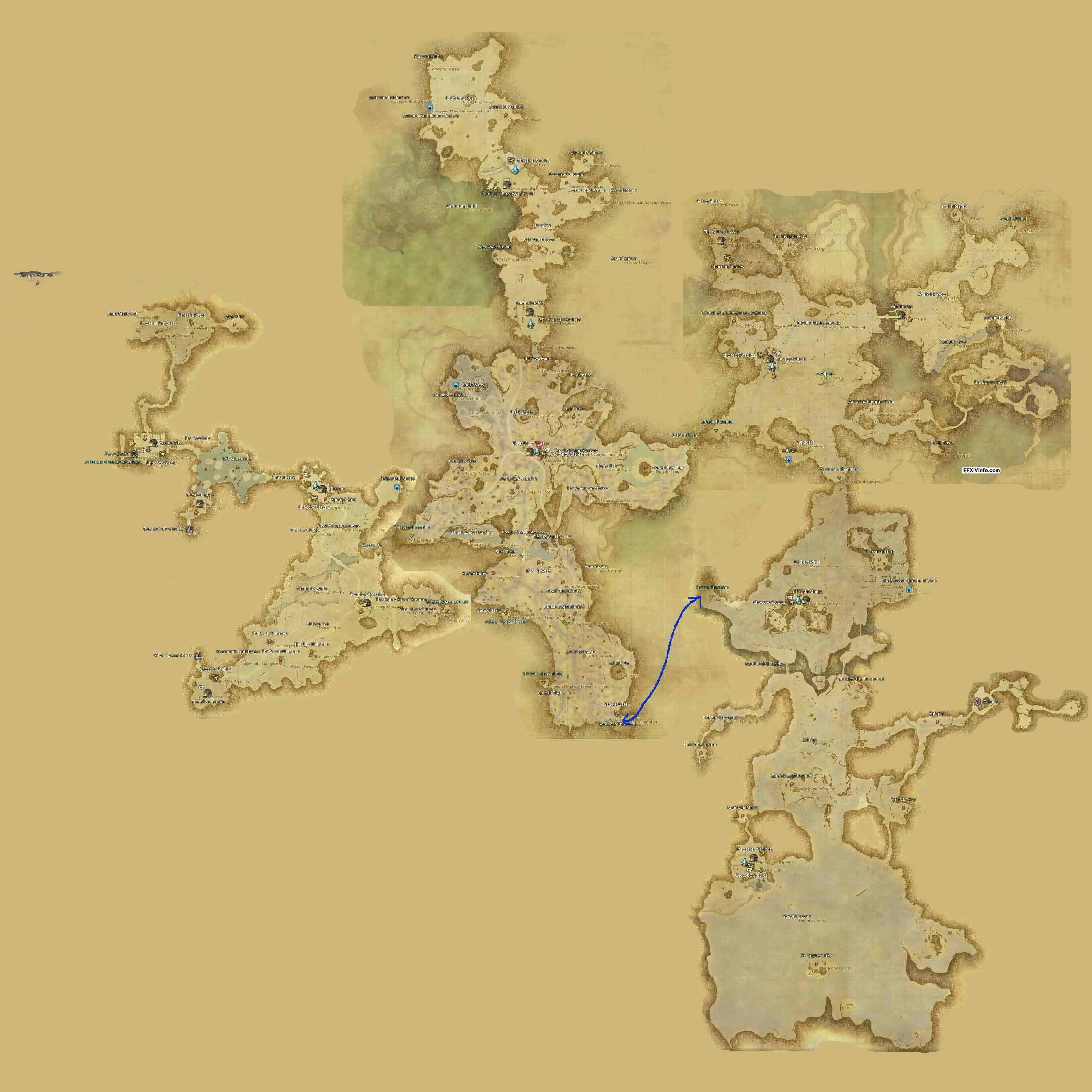 Thanalan - Maps | FFXIV: A Realm Reborn Info (FF14)