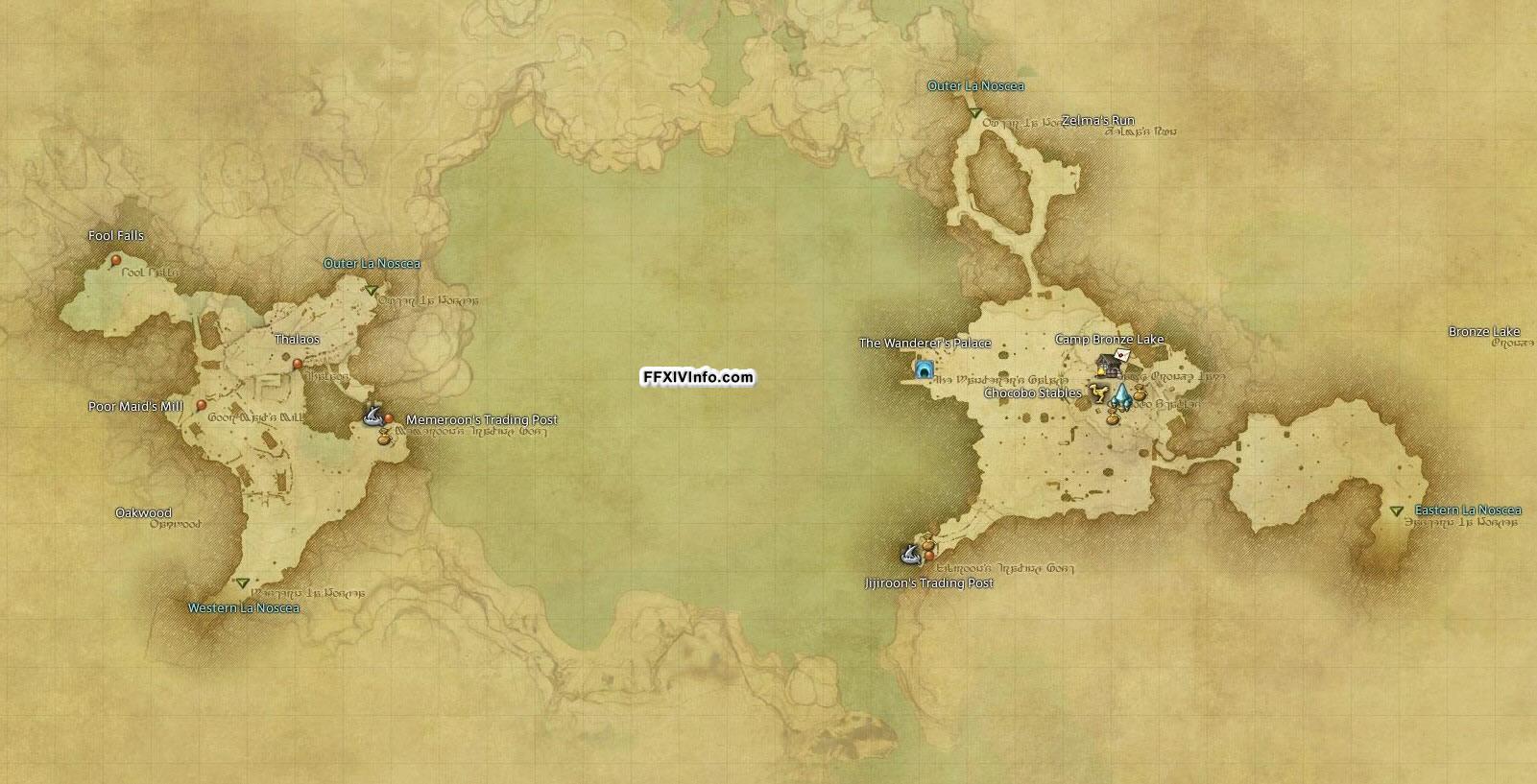 Upper La Noscea - Maps | FFXIV: A Realm Reborn Info (FF14)