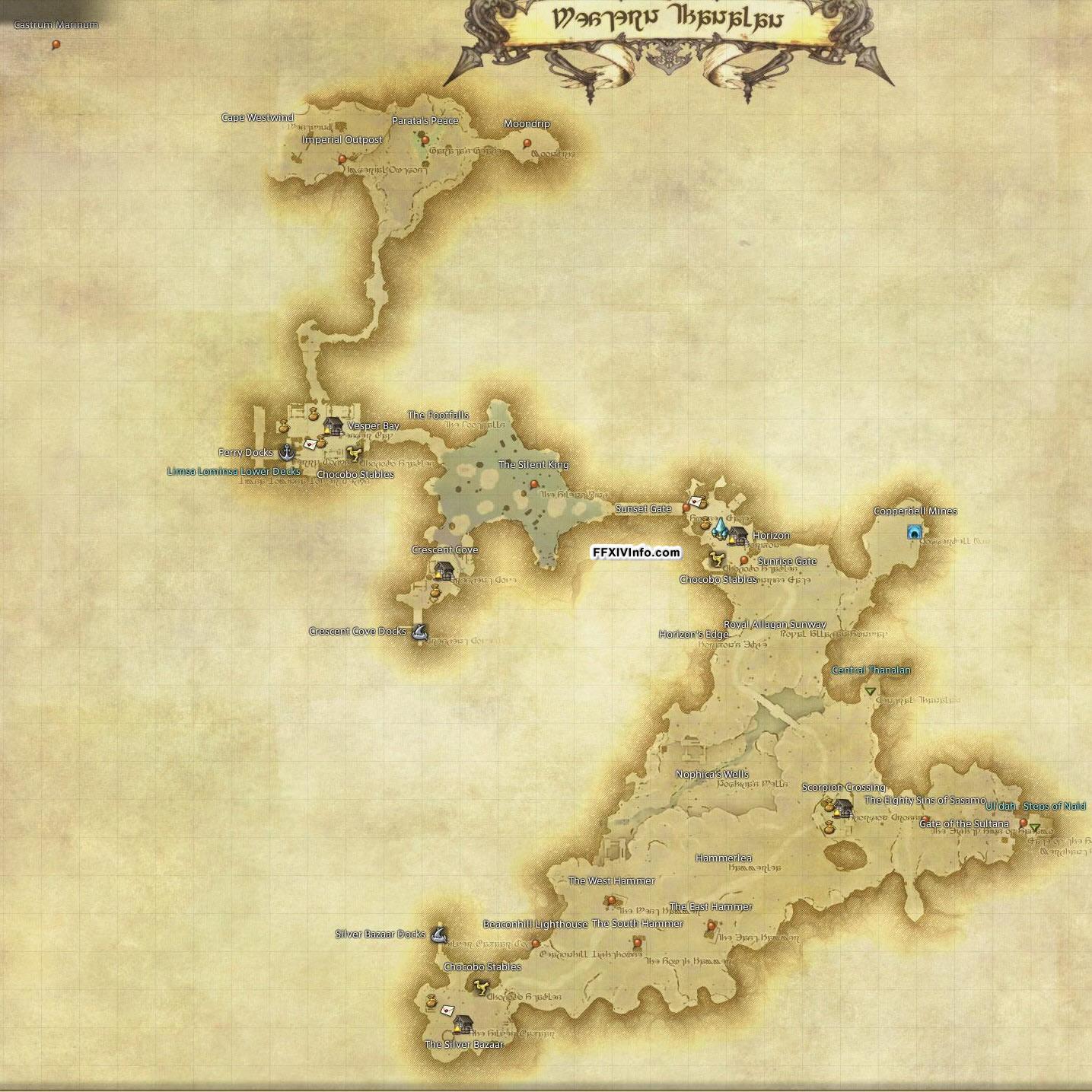Western Thanalan - Maps | FFXIV: A Realm Reborn Info (FF14)