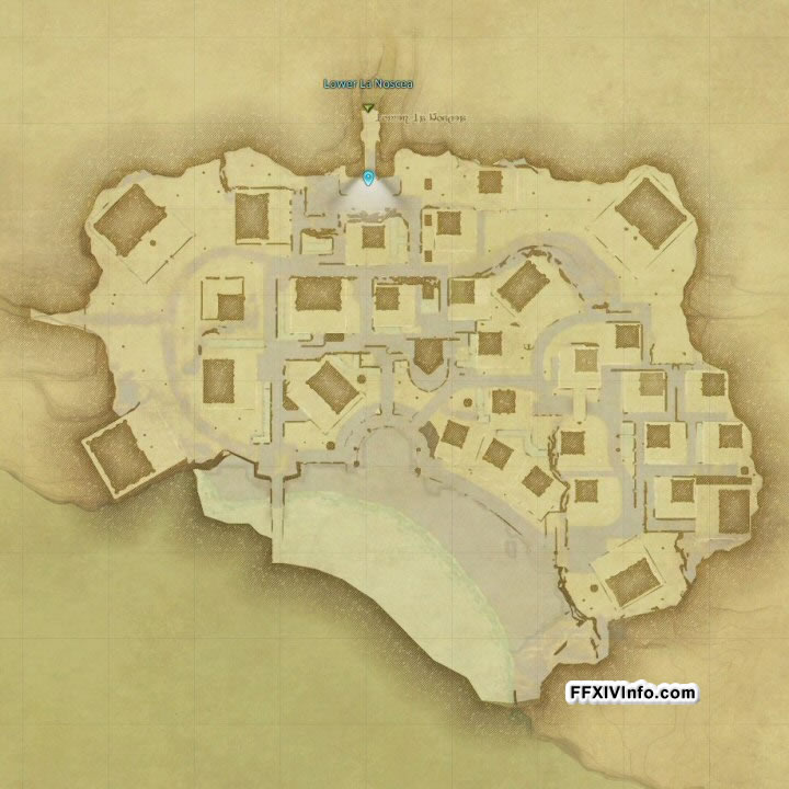Map of Mist Housing Area in FFXIV: A Realm Reborn