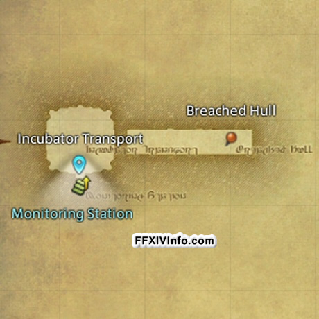 Map of Second Coil of Bahamut Turn 2 (T7) Incubation Bay in FFXIV: A Realm Reborn