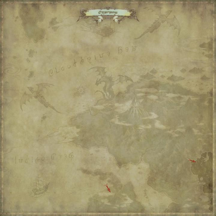 Map of The Dravania in FFXIV: Stormblood